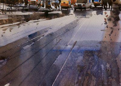 Wet afternoon in Miraj-2 11.5x8.5